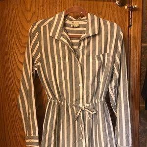 Blue & White Stripped Dress